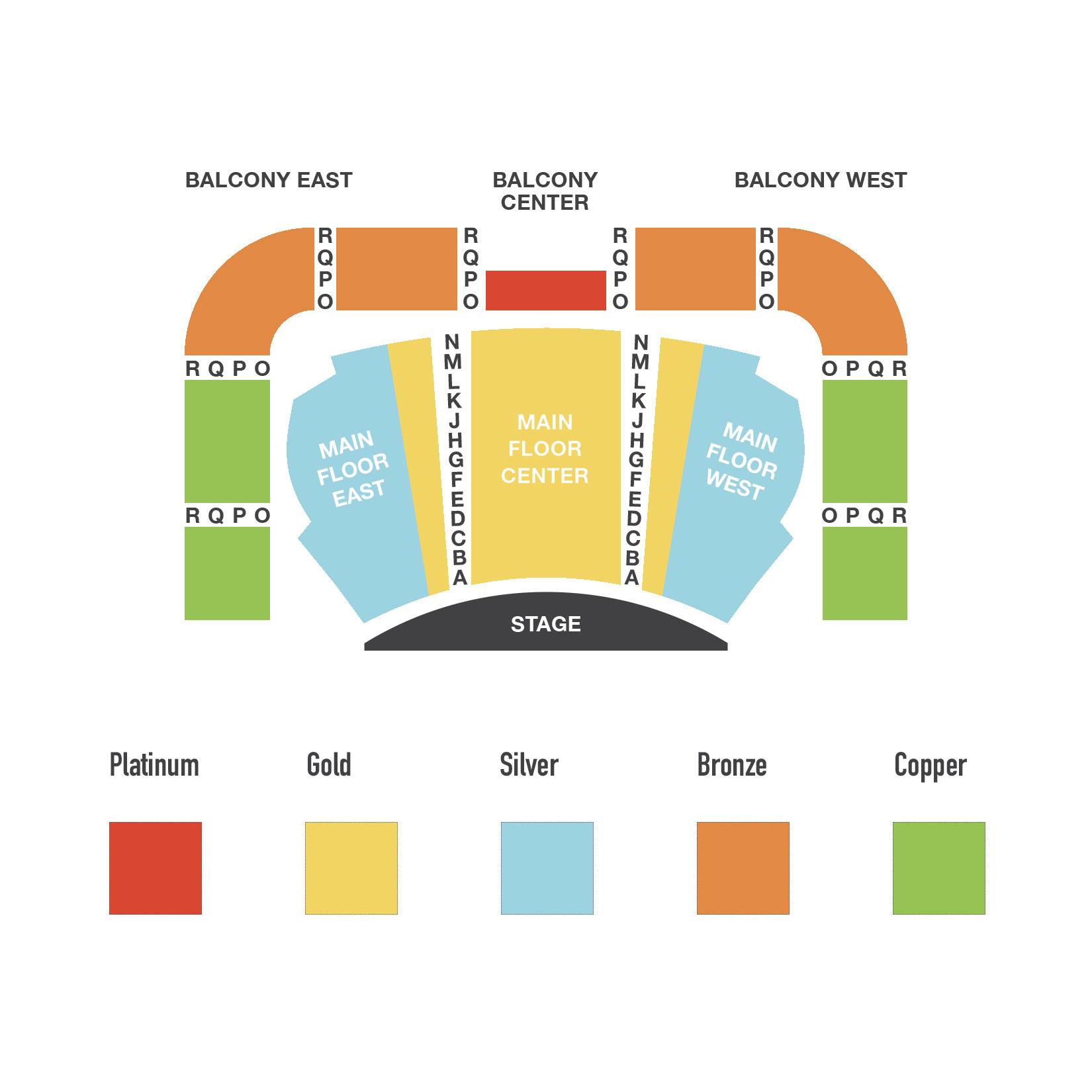 Sheslow Auditorium Seating Chart