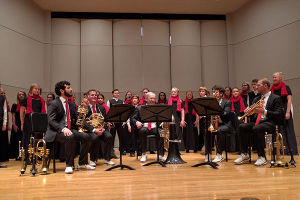 Canadian Brass and Heartland Youth Choir at Sheslow, December 2016
