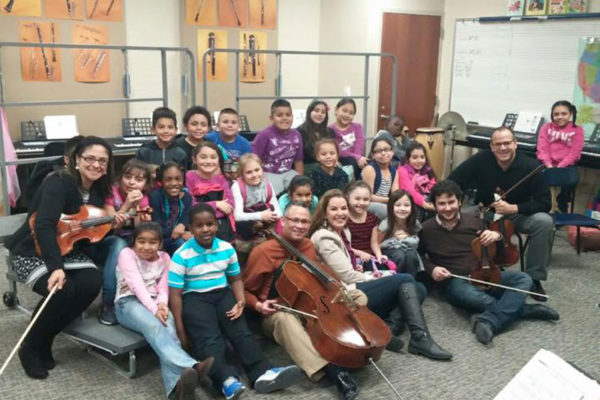 Dali Quartet with Boys and Girls Club, January 2016