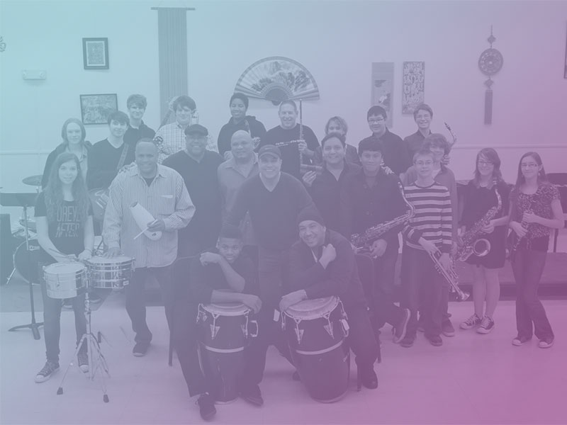 Spanish Harlem Orchestra workshop with Hoover High School Jazz Band