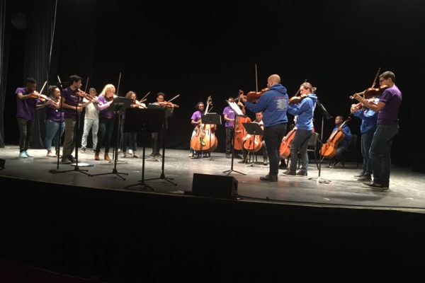 The Sphinx Virtuosi perform for middle and high school students, October 2019