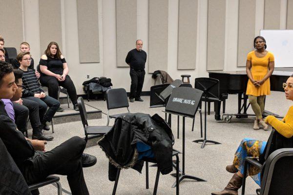 Veronica Swift Voice Coaching at Drake University, March 2019